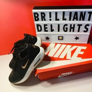 👟NWOT NEW LEATHER NIKE AIR MAX BLACK ROSE GOLD